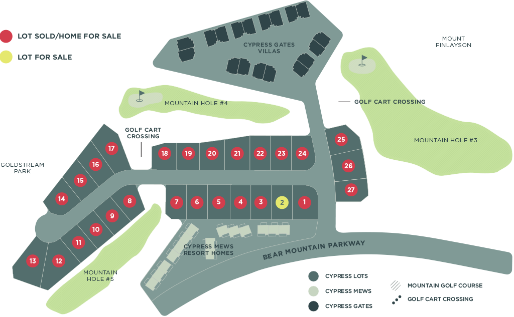 Cypress Neighbourhood Site Map