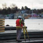 Surveying Victoria International Marina