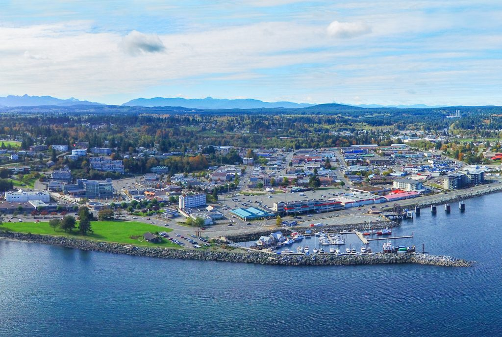 Campbell River, BC aerial
